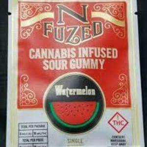 n fused single serve sour watermelon gummies edible colorado